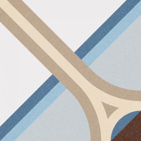 Vives 1900 Montaner Azul Płytka podłogowa 20x20 cm gresowa, VIV1900MONTANERA
