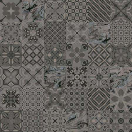 Vives 1900 Tassel Grafito Płytka podłogowa 20x20 cm gresowa, VIV1900TASSELG
