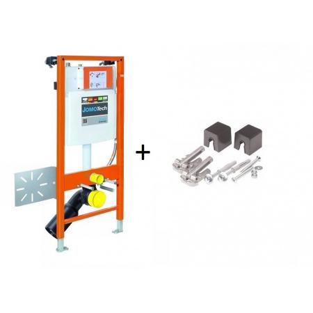 Werit / Jomo JomoTech Hygienic D-Light Zestaw stelaż podtynkowy do WC H112 ze spłuczką podtynkową SLK, 174-91181499-00