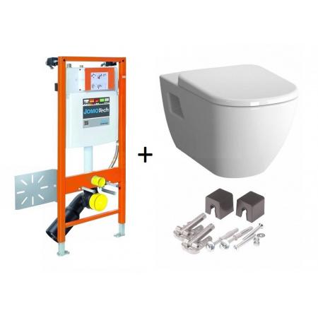 Werit / Jomo JomoTech Hygienic D-Light Zestaw stelaż podtynkowy do WC H112 ze spłuczką podtynkową SLK, toaleta WC podwieszana z funkcją bidetki, 174-91181400-00