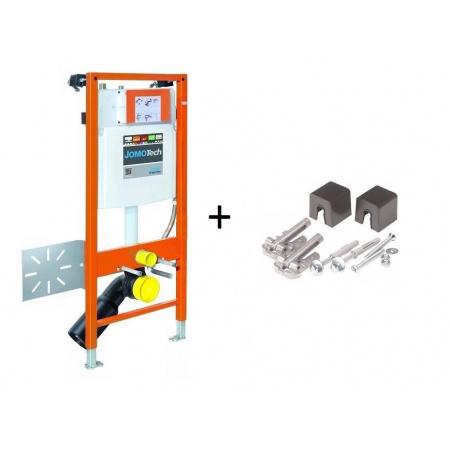 Werit / Jomo JomoTech Hygienic S50 Zestaw stelaż podtynkowy do WC H112 ze spłuczką podtynkową SLK, 174-91181399-00