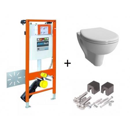 Werit / Jomo JomoTech Hygienic S20 Zestaw stelaż podtynkowy do WC H112 ze spłuczką podtynkową SLK, toaleta WC podwieszana z funkcją bidetki, 174-91181200-00