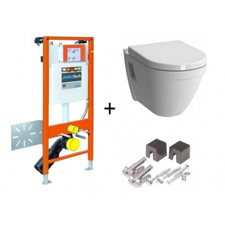 Werit / Jomo JomoTech Hygienic S50 Zestaw stelaż podtynkowy do WC H112 ze spłuczką podtynkową SLK, toaleta WC podwieszana z funkcją bidetki, 174-91181300-00