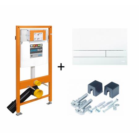 Werit / Jomo JomoTech Stelaż do toalety WC podwieszanej H112 z przyciskiem Exclusive 2.0 i wspornikami, biały 174-91100900-00
