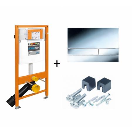 Werit / Jomo JomoTech Stelaż do toalety WC podwieszanej H112 z przyciskiem Exclusive 2.0 i wspornikami, chrom połysk 174-91101300-00
