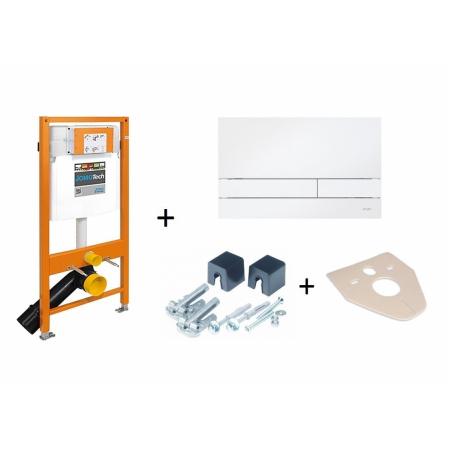 Werit / Jomo JomoTech Stelaż do toalety WC podwieszanej H112 z przyciskiem Exclusive 2.0, wspornikami oraz matą wygłuszającą, biały 174-91101000-00