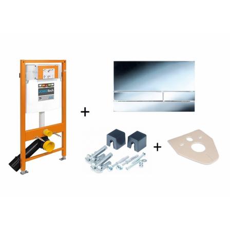 Werit / Jomo JomoTech Stelaż do toalety WC podwieszanej H112 z przyciskiem Exclusive 2.0, wspornikami oraz matą wygłuszającą, chrom błyszczący 174-91101400-00