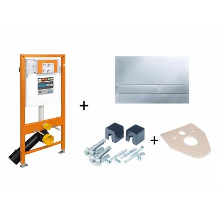 Werit / Jomo JomoTech Stelaż do toalety WC podwieszanej H112 z przyciskiem Exclusive 2.0, wspornikami oraz matą wygłuszającą, chrom matowy 174-91101200-00