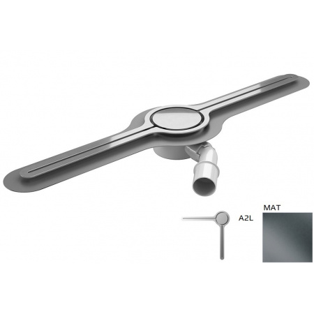 Wiper Eye-drain A2L Odpływ liniowy 100 cm, mat WIPEYEDA2L100MAT