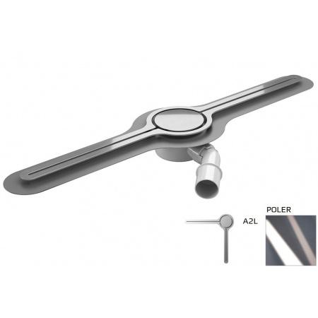 Wiper Eye-drain A2L Odpływ liniowy 120 cm, poler WIPEYEDA2L120POL