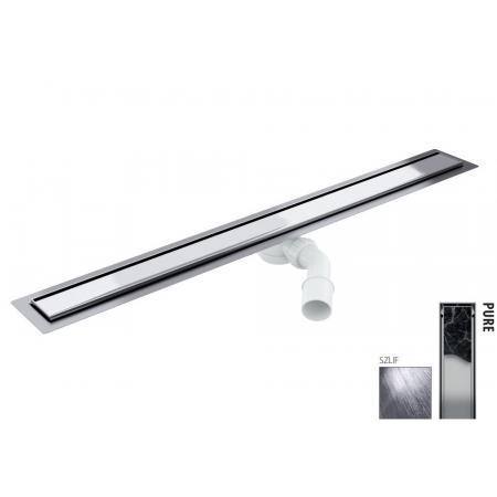 Wiper New Elite Pure Zestaw Odpływ liniowy 50 cm szlif 100.3399.02.050