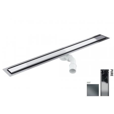 Wiper New Elite Pure Zestaw Odpływ liniowy 80 cm mat 100.3399.03.080