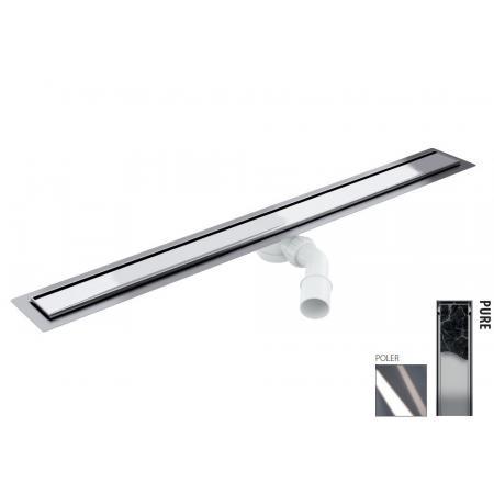 Wiper New Elite Pure Zestaw Odpływ liniowy 80 cm poler 100.3399.01.080