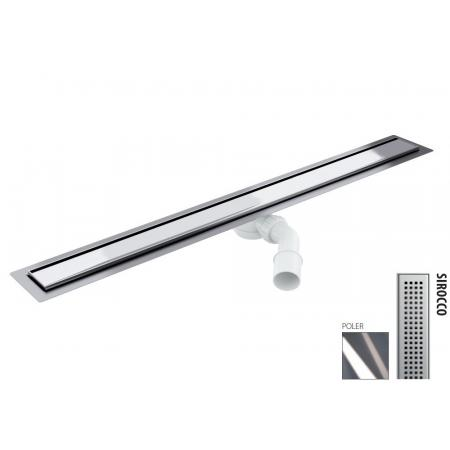 Wiper New Elite Sirocco Zestaw Odpływ liniowy 80 cm poler 100.3397.01.080
