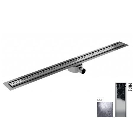 Wiper New Elite Slim Pure Zestaw Odpływ liniowy 120 cm szlif 100.3402.02.120