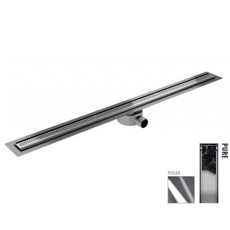 Wiper New Elite Slim Pure Zestaw Odpływ liniowy 90 cm poler 100.3402.01.090