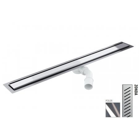 Wiper New Elite Zonda Zestaw Odpływ liniowy 50 cm poler 100.3395.01.050