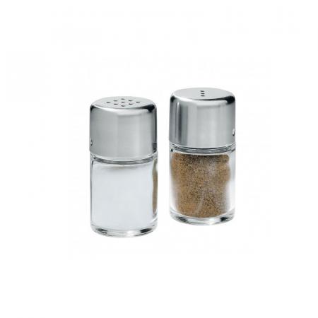 WMF Bel Gusto Zestaw do soli i pieprzu 5 cm, srebrny/przezroczysty 0661006030