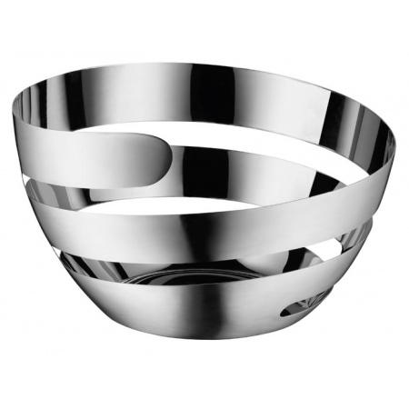 WMF Living Lounge Kosz na owoce 26x26x15,5 cm, srebrny 0665236030