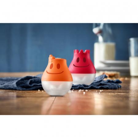 WMF McEdition Zestaw do pieprzu i soli 3,5x3,5x4,5 cm, pomarańczowy/czerwony 1284436040