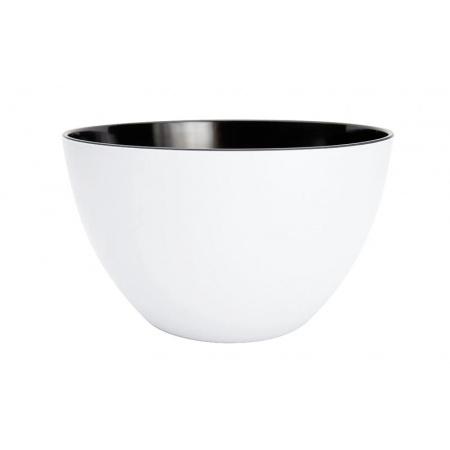 Zak Designs Misa na sałatki 18 cm, biała/czarna 0535-5152