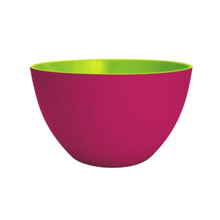 Zak Designs Misa do sałatek 18 cm, różowa/zielona 1701-0321