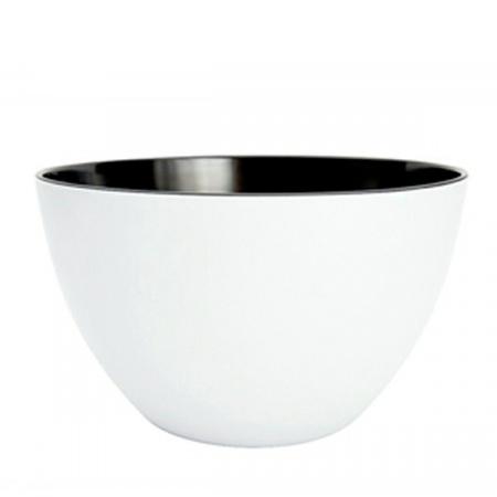 Zak Designs Misa na sałatki 22 cm, biała/czarna 0535-5150