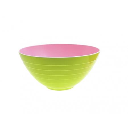 Zak Designs Misa do sałatek 25 cm, zielona/różowa 2173-0320
