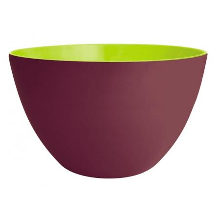 Zak Designs Miska do sałatek 22 cm, kasztanowa/zielona 2226-189
