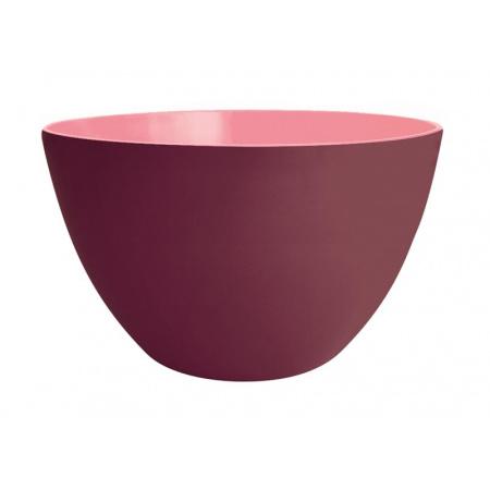 Zak Designs Miska do sałatek 28 cm, kasztanowa/różowa 2225-1891