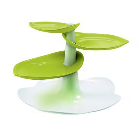 Zak Designs Patera na ciasta 29x29x19 cm, biała/zielona 1283-N870