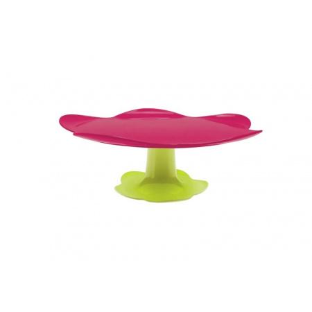 Zak Designs Patera na ciasta 33x33x11,5 cm, różowa/zielona 1701-N950