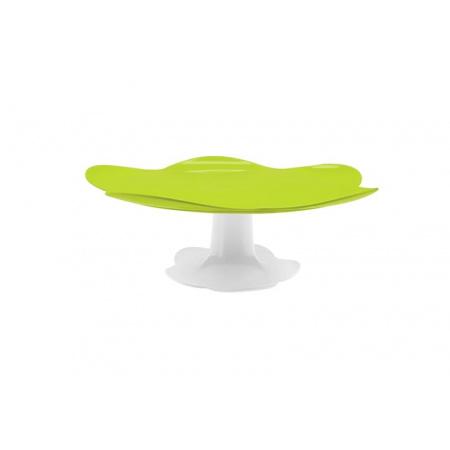 Zak Designs Patera na ciasta 33x33x11,5 cm, zielona/biała 1283-N950