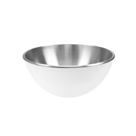 Zak Designs Stalowa miska 16 cm, biała/srebrna 1313-8251
