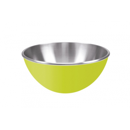 Zak Designs Stalowa miska 25 cm, zielona/srebrna 0204-8255