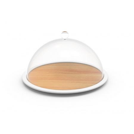 Zak Designs Osmos Patera z pokrywą 28x28x16 cm, jasnobrązowa/biała 1301-150
