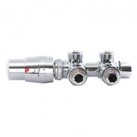 Zehnder Twins Zestaw termostatyczny do grzejników zasilanych od dołu, chrom TSGS022CFK/L