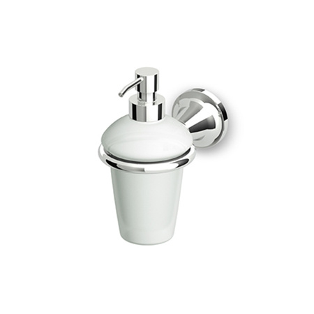 Zucchetti Agora Ceramiczny dozownik do mydła ścienny, błyszczący nikiel ZAD415.C8