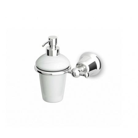 Zucchetti Delfi Dozownik do mydła naścienny ceramiczny, chrom/złoto ZAC215.CD