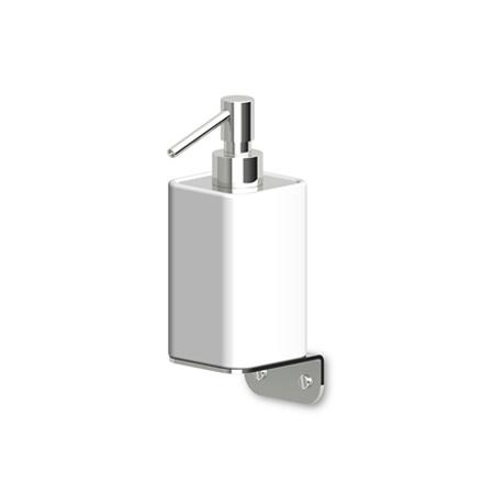 Zucchetti Jingle Ceramiczny dozownik do mydła ścienny, stal szczotkowana ZAD115.C3