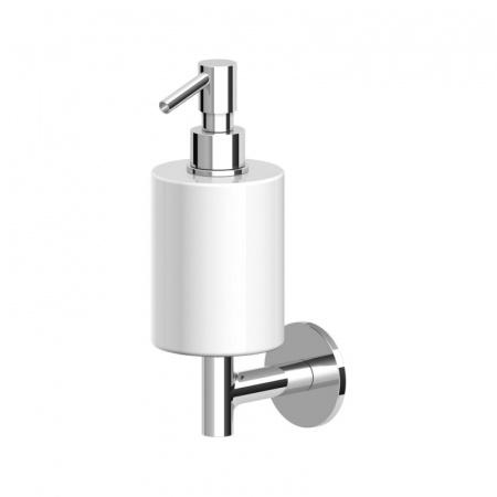 Zucchetti Pan Ceramiczny dozownik do mydła ścienny, biały matowy, gofrowany ZAC615.W1