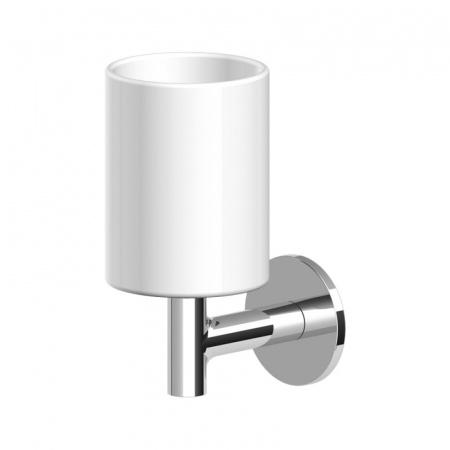 Zucchetti Pan Ceramiczny uchwyt kubka ścienny, biały matowy, gofrowany ZAC613.W1