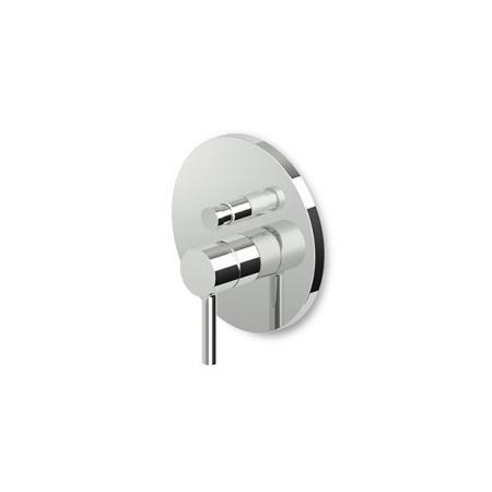 Zucchetti Pan Jednouchwytowa bateria wannowo-prysznicowa podtynkowa, biała matowa, gofrowana ZP6096.W1