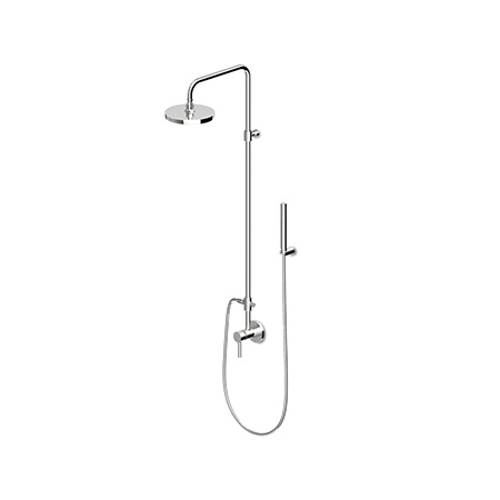 Zucchetti Pan Zestaw prysznicowy z deszczownicą, stal szczotkowana ZP6054.C3