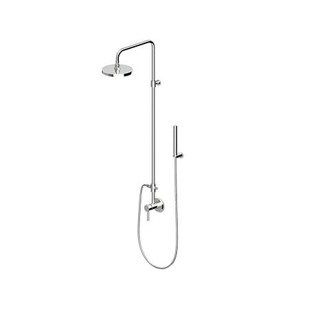 Zucchetti Pan Zestaw prysznicowy z deszczownicą, czarna, soft touch ZP6054.N7