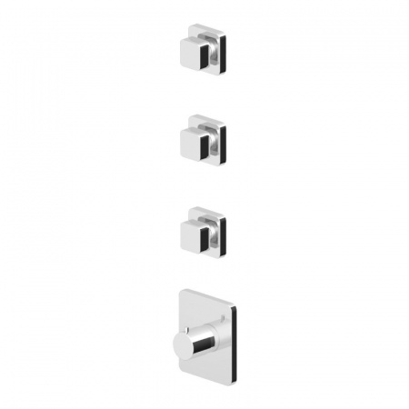 """Zucchetti Soft Termostatyczna bateria prysznicowa podtynkowa 3/4"""", błyszczący nikiel ZP7098.C8"""