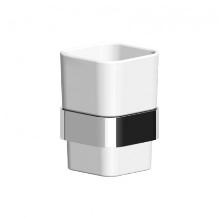 Zucchetti Soft Uchwyt kubka naścienny ceramiczny, błyszczący nikiel ZAC713.C8