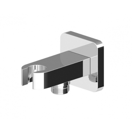 """Zucchetti Soft Uchwyt słuchawki z przyłączem węża 1/2"""" x 1/2"""", chrom Z93938"""