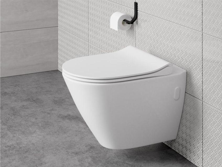 Cersanit City Oval Zestaw Do łazienki Nowoczesnej Miska Wc Deska