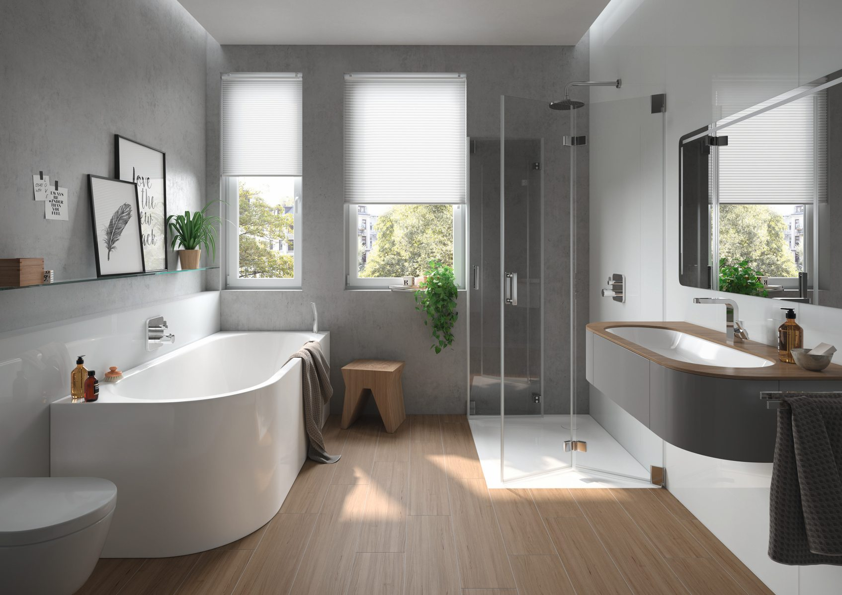 25 Pomysłów Szara łazienka Jakie Dodatki Płytki I Meble
